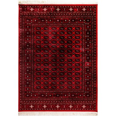 Crown Red Area Rug Rug Size: 5'3