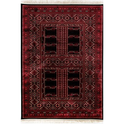 Crown Red Area Rug Rug Size: Rectangle 2 x 35