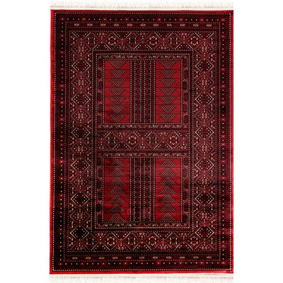 Crown Red Area Rug Rug Size: 22 x 77