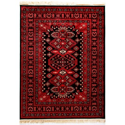 Crown Red Area Rug Rug Size: Rectangle 67 x 96