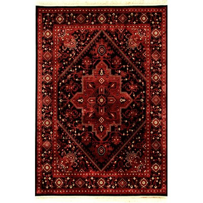Crown Red/Black Area Rug Rug Size: 67 x 96