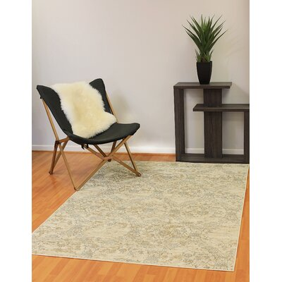 Kingston White Area Rug Rug Size: 68 x 77