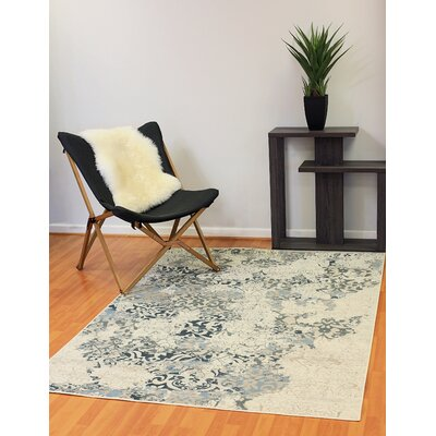 Kingston Cream Area Rug Rug Size: 54 x 78