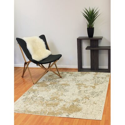 Kingston Cream Area Rug Rug Size: 68 x 77