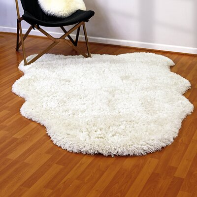 Remie Ivory Area Rug Rug Size: Rectangle 5 x 7