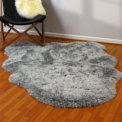 Remie Gray Area Rug Rug Size: Rectangle 5 x 7