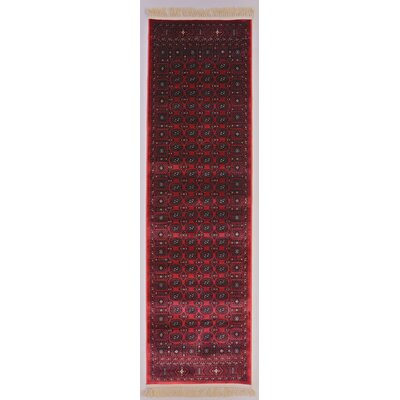 Crown Red Area Rug Rug Size: Rectangle 22 x 77