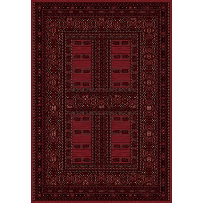 Crown Red Area Rug Rug Size: Rectangle 53 x 7