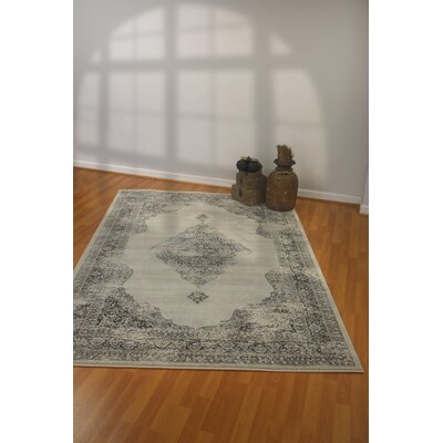 Ancient Garden Silver/Gray Area Rug Rug Size: Rectangle 67 x 96