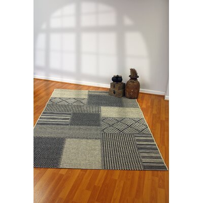 Piazza Geometric Gray/Beige Outdoor Area Rug Rug Size: Rectangle 311 x 57