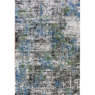 Dovewood Blue/Gray Area Rug Rug Size: Rectangle 53 X 77