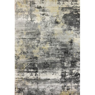 Myranda Modern Gray/Yellow Area Rug Rug Size: Rectangle 68 x 97