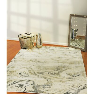 Cristobal Cream/Gray Area Rug Rug Size: Rectangle 2 x 31