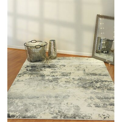 Myranda Cream/Gray Area Rug Rug Size: Rectangle 54 x 78