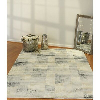 Myranda Cream/Gray Area Rug Rug Size: Rectangle 31 x 59