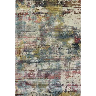 Myranda Blue/Green Area Rug Rug Size: Rectangle 5'4