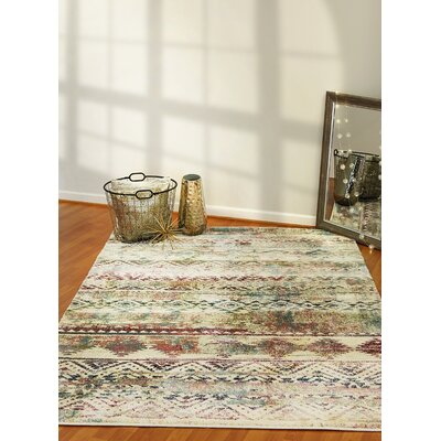 Catsby Ivory/Red Area Rug Rug Size: Rectangle 54 x 78