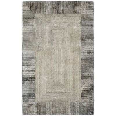 Ernesto Hand-Woven Wool Gray Indoor Area Rug Rug Size: Rectangle 68 x 97