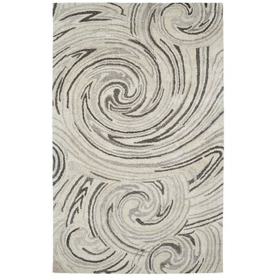Ernesto Hand-Woven Ivory/Gray Indoor Area Rug Rug Size: Rectangle 4 x 6