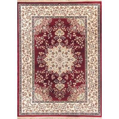 Cirro Red / Beige Oakland Area Rug Rug Size: Rectangle 57 x 82
