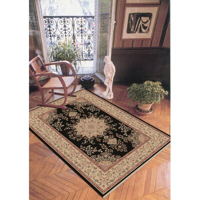 Cirro Black / Beige Oakland Area Rug Rug Size: Rectangle 67 x 102