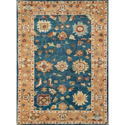 Charisma Mediterranean Blue Area Rug Rug Size: Rectangle 4 x 6