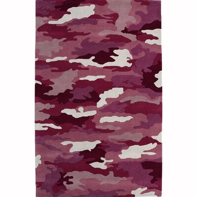 Fantasia Cool Girlzz 1709-200 Pink Army Wool Rug Rug Size: Rectangle 3 x 5
