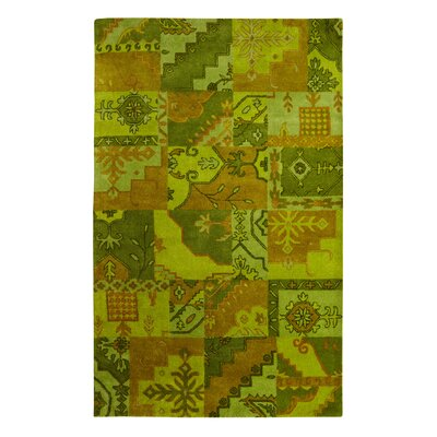 Utopia Green/Brown Area Rug Rug Size: 4 x 6