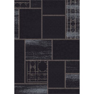 Vintage Black/Grey Rug Rug Size: Rectangle 67 x 96