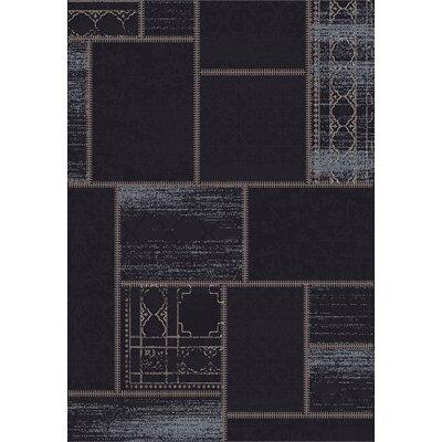 Vintage Black/Grey Rug Rug Size: 2' x 3'7