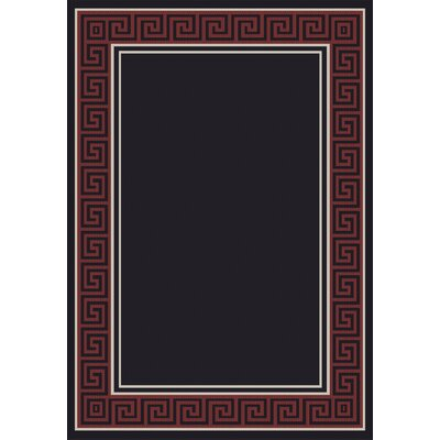 Piazza Black/Red Area Rug Rug Size: Rectangle 53 x 77