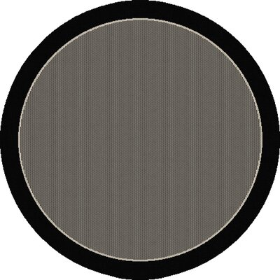 Aliyah Hubbard Black Indoor/Outdoor Area Rug Rug Size: Round 710