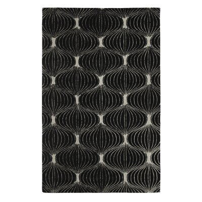 Allure Allurerary Black/Silver Area Rug Rug Size: Rectangle 4 x 6