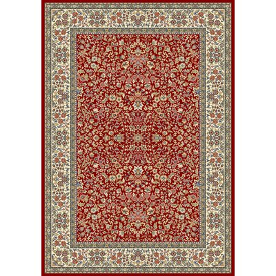 Ancient Garden Red/Ivory Area Rug Rug Size: Rectangle 53 x 77
