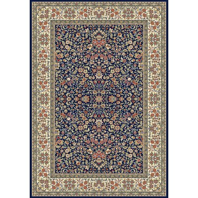Attell Blue/Ivory Area Rug Rug Size: Rectangle 53 x 77