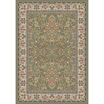 Ancient Garden Green/Ivory Area Rug Rug Size: Rectangle 67 x 96