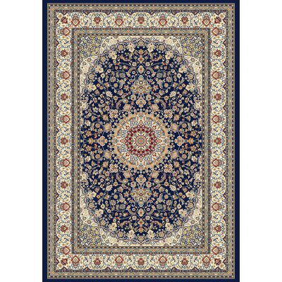 Attell Oriental Blue/Ivory Area Rug Rug Size: Rectangle 53 x 77