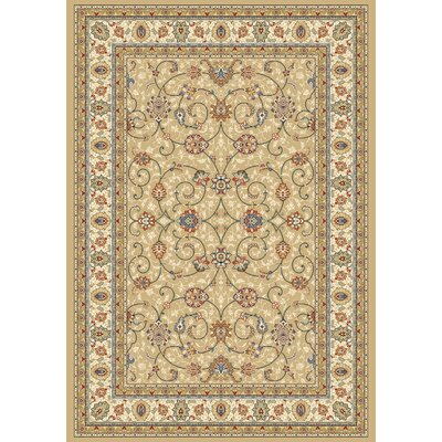 Attell Light Gold/Ivory Area Rug Rug Size: Runner 22 x 77