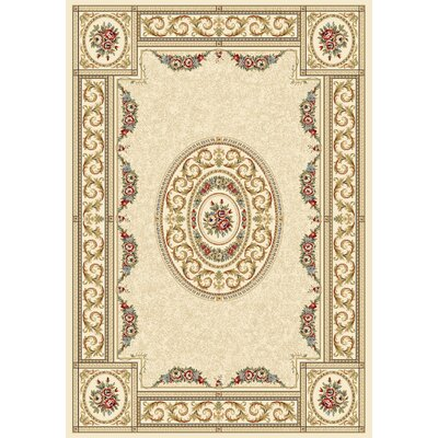 Ancient Garden Blue/Ivory Area Rug Rug Size: 67 x 96