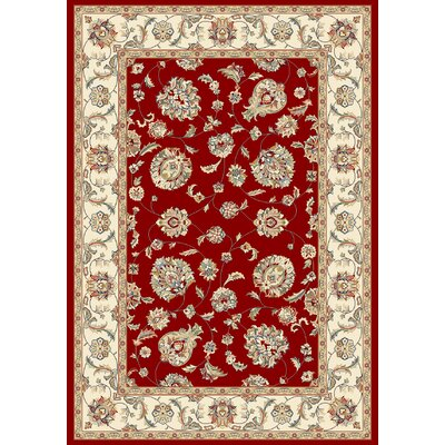 Ancient Garden Red/Ivory Area Rug Rug Size: Rectangle 67 x 96