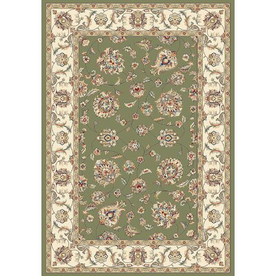 Ancient Garden Green/Ivory Area Rug Rug Size: Runner 22 x 77