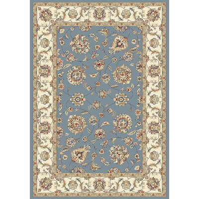 Ancient Garden Blue/Ivory Area Rug Rug Size: 53 x 77