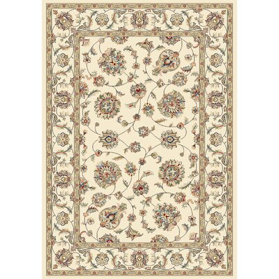 Attell Ivory/Ivory Area Rug Rug Size: Rectangle 53 x 77