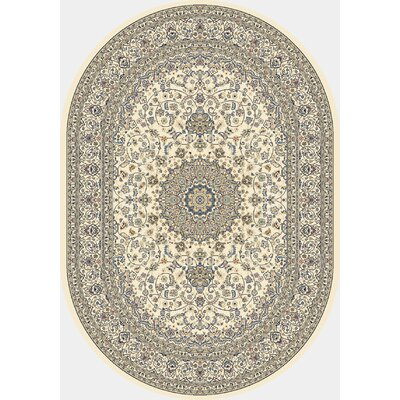 Attell Ivory Area Rug Rug Size: Oval 27 x 47