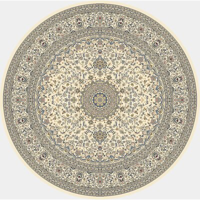 Attell Ivory Area Rug Rug Size: Round 710