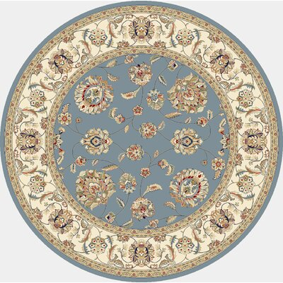 Ancient Garden Blue/Ivory Area Rug Rug Size: Round 710