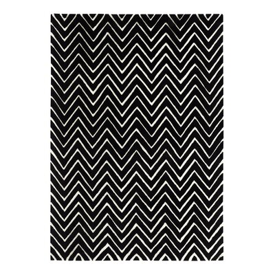 Aria Ivory/Black Area Rug Rug Size: Rectangle 8 x 11