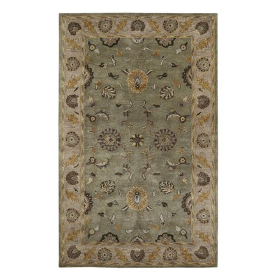 Charisma Beige / Green Area Rug Rug Size: Rectangle 4 x 6