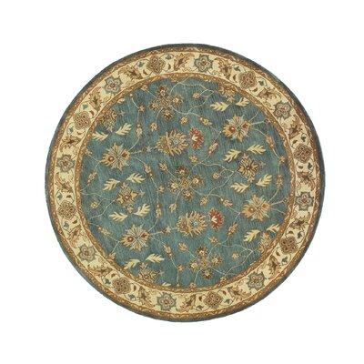 Charisma Parson Blue / Ivory Area Rug Rug Size: Round 53