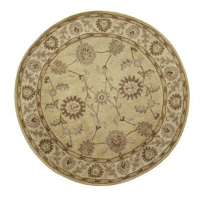 Charisma Champagne Area Rug Rug Size: Round 5'3